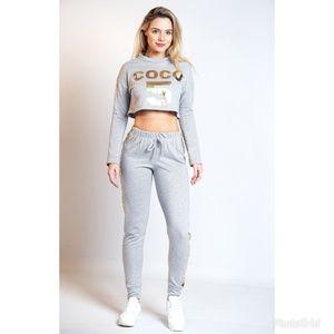 Coco 5  Lounge Wear 2-Piece Grey